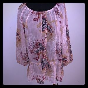 Lane Bryant Top Paisley Design Front and Back 14